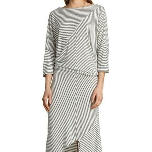 All Saints Cadie Stripe Midi Dress